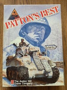 PATTON'S BEST AVALON HILL WARGAME IN BOX!! +