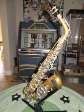 Vintage France Evette Schaeffer Eb Alto Saxophone & Case Serial 20349
