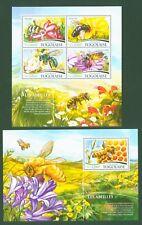 Togo 2015 - Bienen Honigbienen - Honey bees Abeilles - Nr. 6754-57 + Block 1167