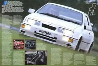 FORD SIERRA RS COSWORTH DIAMOND WHITE RETRO POSTER PRINT CLASSIC 80's ADVERT A3!