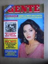 GENTE n°51 1981 Ornella Muti Paul Getty Quirino Cristiani Donatella Rettore [Q8]