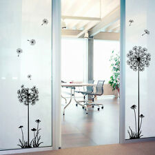 Removable Home Room Decor Dandelion Fly Wall Sticker Flower Mural PVC Decal