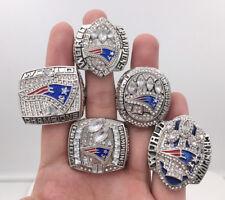 5 Pcs (01 03 04 14 16) New England Patriots World Championship Ring Sz 8 - 14 !!