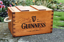 RUSTIC ANTIQUED VINTAGE WOODEN GUINNESS BOXES CRATES TRUG HANDMADE