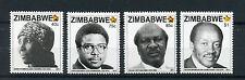 More details for zimbabwe 2015 mnh heroes 4v set nolan chipo makombe sunny takawira stamps