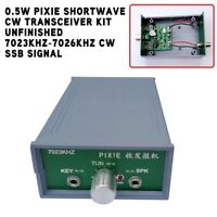 PIXIE Shortwave CW Transceiver Kit Unfinished 7023KHz-7026KHz CW SSB Signal 0.5W