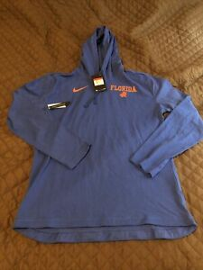 Nike Florida Gators Hoodie Blue Hooded Sweatshirt UF FLA NWT LARGE $55