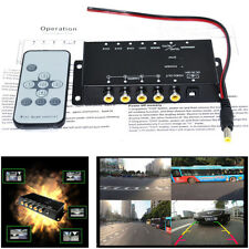 4 Way Car Video Switch Parking Camera 4 View Image Split Screen Control Box Kits