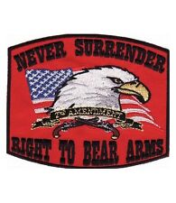 Right To Bear Arms Red Patch, 2nd Amendment Patches