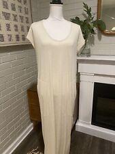 New listing ATHLETA Maxi Dress Pool Swim Cover Up Beach Pockets Cream Off-White Medium
