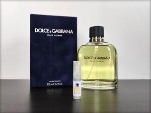 Dolce & Gabbana Pour Homme 2 ml Sample Decant Eau De Toilette Spicy Fresh Men