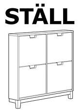 IKEA Hardware Set replacement parts for STALL shoe cabinet with 4 compartments