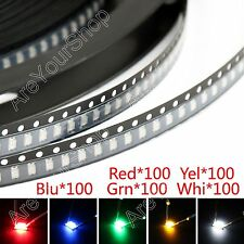 500Pcs 1206 SMD LED Red Green Blue Yellow White 5Colours Ligero Diodes Emitting