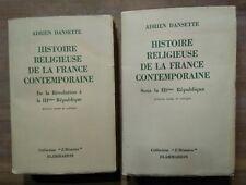 Histoire religieuse de la France contemporaine, 2 tomes (Flammarion) (1948:1951)