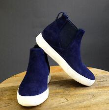VINCE Dark Navy Suede Newlyn High Top Sneakers, Sz 5.5