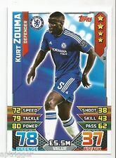 2015 / 2016 EPL Match Attax Base Card (61) Kurt ZOUMA Chelsea