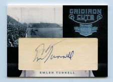 Emlen Tunnell 2011 Panini Plates and Patches 3/4 Gridiron Cuts Autograph Auto &