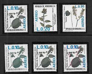 HONDURAS. 1987. AIR. PLANTS SETNEVER HINGED MINT WITH VARIETIES OF 10c