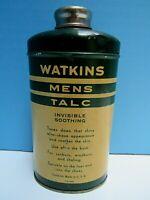 VINTAGE WATKINS MENS TALC 3.75 oz. TIN by THE J.R. WATKINS CO,, WINONA, MINN. VG