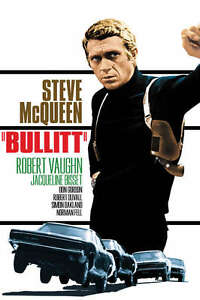 BULLITT ACTION MOVIE POSTER PRINT STEVE MCQUEEN ROBERT DUVALL 36x24 9MIL PAPER