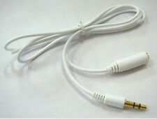 2x Gold Plated 3.5mm M/F Male to Female Earphone Audio Extension Cable Lead Cord