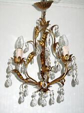 Traumhafte Feuervergoldete Antik Shaby Chic Kronleuchter, Lüster