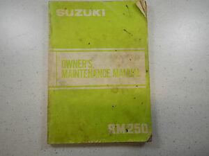 83 Suzuki RM250 OEM Originales DERECHO USUARIO RIDER'S Manual RM250D RM 250 D