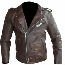 Blouson veste VINTAGE moto en cuir STYLE HARLEY NEUF S M L XL 2 3XL 4XL 56 58 60