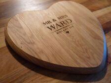 Personalised Mr & Mrs Oak Chopping Board: Heart, Love 5th Wedding Anniversary