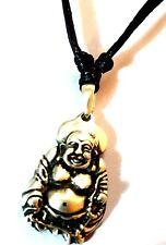 Buda De Estaño Colgante Collar de cordón negro ajustable en libre de níquel
