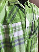 Under Armour All Season Gear Men's Green Plaid Short Sleeve Button Down Size L
