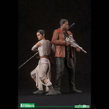 KOTOBUKIYA - STAR WARS THE FORCE AWAKENS - REY and FINN - ARTFX+ STATUES - BNIB!