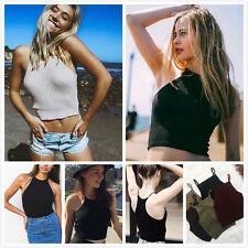 Fashion Women Blouse Knit Crop Summer Beach Bra Vest Tank Tops Casual T-Shirts