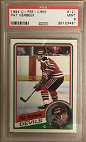 1984 1995 OPC Pat Verbeek PSA 9 RC ROOKIE Mint #121 Devils Whalers