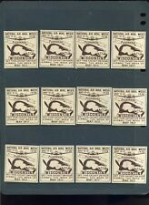 12 Vintage 1938 National Air Mail Week Poster Stamps (L452) Wisconsin Beavers!