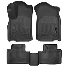 HUSKY 99151 WeatherBeater Front Rear Floor Mats for 16-20 Jeep Grand Cherokee