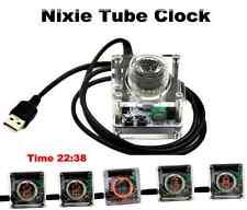 Unique Retro Style Usb Single-digit Nixie Tube Clock Mini Acrylic Case Qs30-1