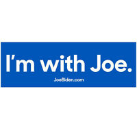 I'm with Joe Biden for President 2020 Campaign Democratic Bumper Stickers Decal