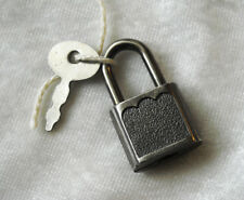 Vintage SMALL Black-tone keyed PADLOCK with KEY for luggage, diary or other use