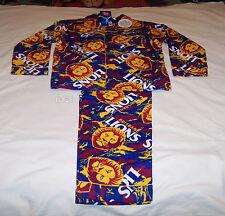 Brisbane Lions Logo AFL Boys Camo Printed Flannel Pyjama Set Size 12 New