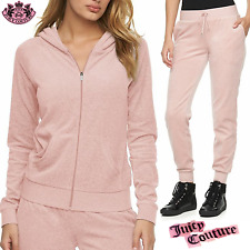 Juicy Couture Velour Track Suit 2pc Luxury Set Hoodie Yoga Jogger Pants NWT -