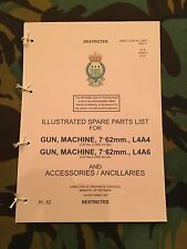 BREN L4 LIGHT MACHINE GUN LMG 7.62mm PARTS LIST