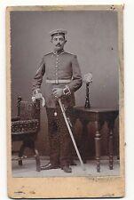 Foto CDV Portrait Garde Ulan Regiment mit Säbel