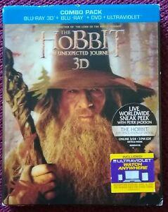 Hobbit 1 - Bluray 3D / 2D - 5 Disc Edition - Region A - kein deutsch - 3D Cover
