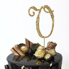 """2.5"""" Tall Gold Letter V Bling Rhinestone Wedding Party Cake or Cupcake Topper"""