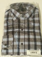 Brand new plaid male dress shirt in a size M