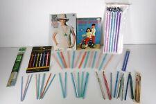 55 Vintage Crochet Knitting Needle Aluminum Plastic Bamboo Hero Boye Bates Books