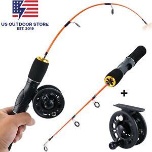 Sougayilang Ice Fishing Rod Ice Fishing Rod Reel Combo Winter Fishing Ice Reel