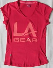 TODAY ONLY-LAST ONE !! LA GEAR WOMENS UK 6 V-NECK T SHORT SLEEVE CASUAL  F7/1712