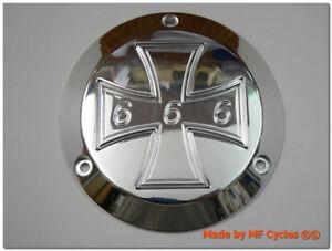 Kupplungsdeckel Harley-Davidson Derby Cover Iron Cross 666 Eisernes Kreuz EK1 HD